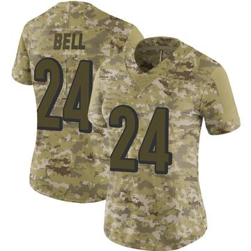 Women's Nike Cincinnati Bengals Vonn Bell Camo 2018 Salute to Service Jersey - Limited