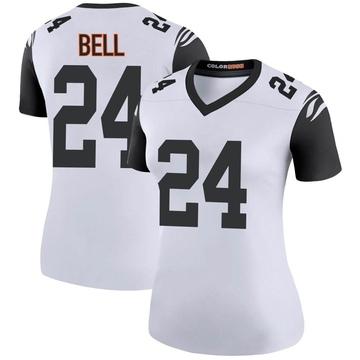 Women's Nike Cincinnati Bengals Vonn Bell White Color Rush Jersey - Legend