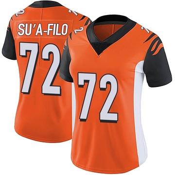 Women's Nike Cincinnati Bengals Xavier Su'a-Filo Orange Vapor Untouchable Jersey - Limited