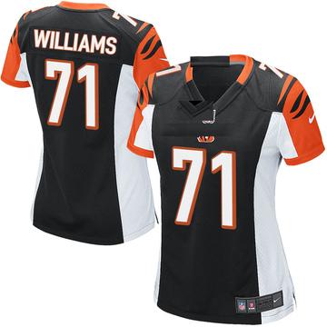 Women's Nike Cincinnati Bengals Xavier Williams Black Team Color Jersey - Game