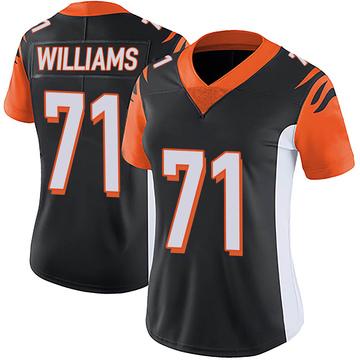 Women's Nike Cincinnati Bengals Xavier Williams Black Team Color Vapor Untouchable Jersey - Limited