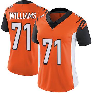 Women's Nike Cincinnati Bengals Xavier Williams Orange Vapor Untouchable Jersey - Limited