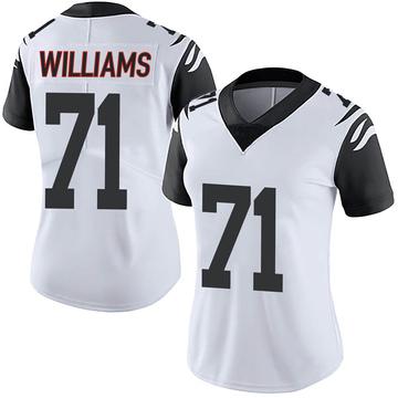 Women's Nike Cincinnati Bengals Xavier Williams White Color Rush Vapor Untouchable Jersey - Limited