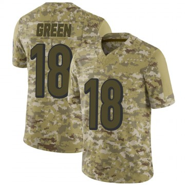 Youth Nike Cincinnati Bengals A.J. Green Camo 2018 Salute to Service Jersey - Limited