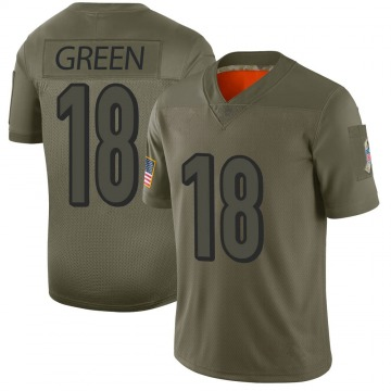 Youth Nike Cincinnati Bengals A.J. Green Camo 2019 Salute to Service Jersey - Limited