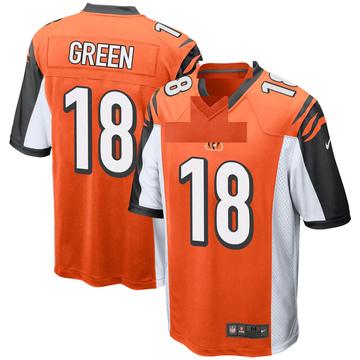 Youth Nike Cincinnati Bengals A.J. Green Orange Jersey - Game
