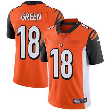Youth Nike Cincinnati Bengals A.J. Green Orange Vapor Untouchable Jersey - Limited