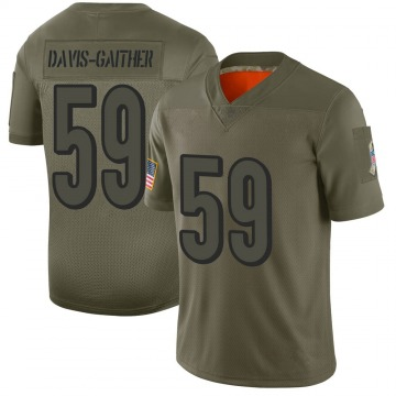 Youth Nike Cincinnati Bengals Akeem Davis-Gaither Camo 2019 Salute to Service Jersey - Limited