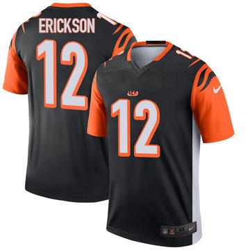 Youth Nike Cincinnati Bengals Alex Erickson Black Jersey - Legend