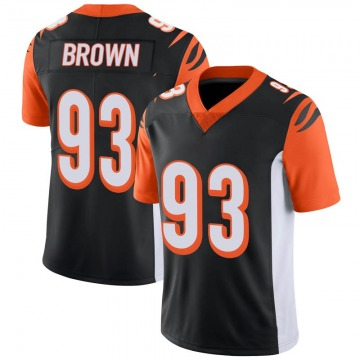 Youth Nike Cincinnati Bengals Andrew Brown Black 100th Vapor Jersey - Limited