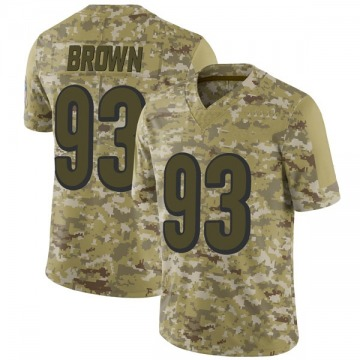 Youth Nike Cincinnati Bengals Andrew Brown Brown Camo 2018 Salute to Service Jersey - Limited