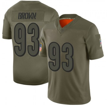 Youth Nike Cincinnati Bengals Andrew Brown Brown Camo 2019 Salute to Service Jersey - Limited