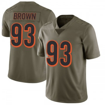 Youth Nike Cincinnati Bengals Andrew Brown Green 2017 Salute to Service Jersey - Limited
