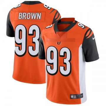 Youth Nike Cincinnati Bengals Andrew Brown Orange Vapor Untouchable Jersey - Limited