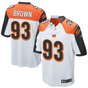 Youth Nike Cincinnati Bengals Andrew Brown White Jersey - Game