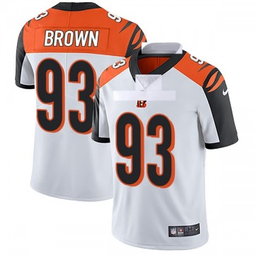 Youth Nike Cincinnati Bengals Andrew Brown White Vapor Untouchable Jersey - Limited