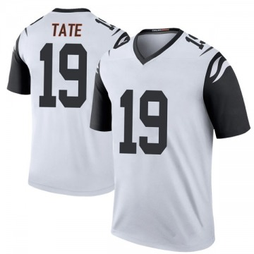 Youth Nike Cincinnati Bengals Auden Tate White Color Rush Jersey - Legend