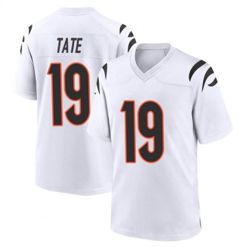 Youth Nike Cincinnati Bengals Auden Tate White Jersey - Game