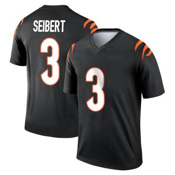 Youth Nike Cincinnati Bengals Austin Seibert Black Jersey - Legend