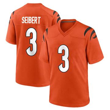 Youth Nike Cincinnati Bengals Austin Seibert Orange Jersey - Game