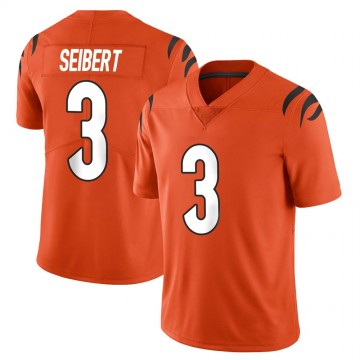 Youth Nike Cincinnati Bengals Austin Seibert Orange Vapor Untouchable Jersey - Limited