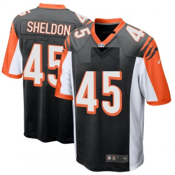 Youth Nike Cincinnati Bengals Brady Sheldon Black Team Color Jersey - Game