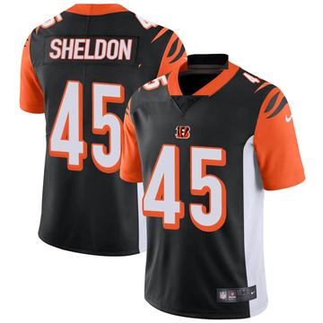 Youth Nike Cincinnati Bengals Brady Sheldon Black Team Color Vapor Untouchable Jersey - Limited