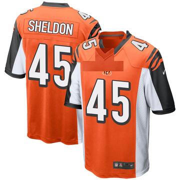 Youth Nike Cincinnati Bengals Brady Sheldon Orange Jersey - Game