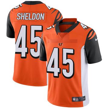 Youth Nike Cincinnati Bengals Brady Sheldon Orange Vapor Untouchable Jersey - Limited