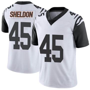 Youth Nike Cincinnati Bengals Brady Sheldon White Color Rush Vapor Untouchable Jersey - Limited