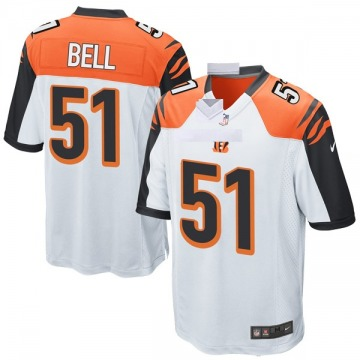 Youth Nike Cincinnati Bengals Brandon Bell White Jersey - Game