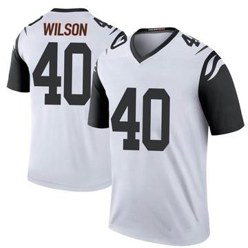 Youth Nike Cincinnati Bengals Brandon Wilson White Color Rush Jersey - Legend