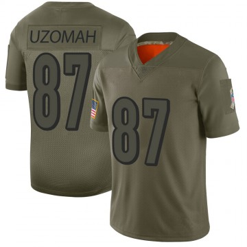 Youth Nike Cincinnati Bengals C.J. Uzomah Camo 2019 Salute to Service Jersey - Limited