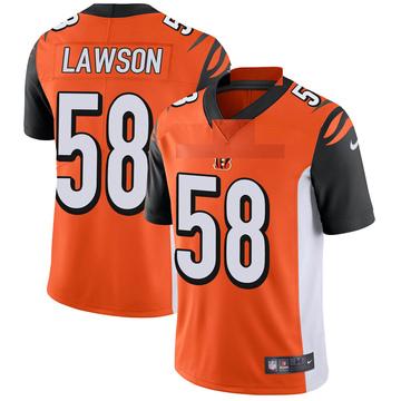 Youth Nike Cincinnati Bengals Carl Lawson Orange Vapor Untouchable Jersey - Limited