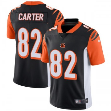 Youth Nike Cincinnati Bengals Cethan Carter Black Team Color Vapor Untouchable Jersey - Limited