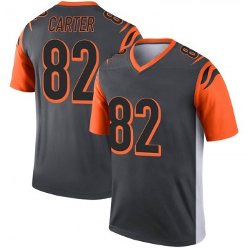 Youth Nike Cincinnati Bengals Cethan Carter Inverted Silver Jersey - Legend