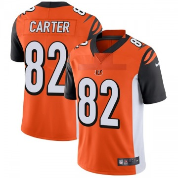 Youth Nike Cincinnati Bengals Cethan Carter Orange Vapor Untouchable Jersey - Limited