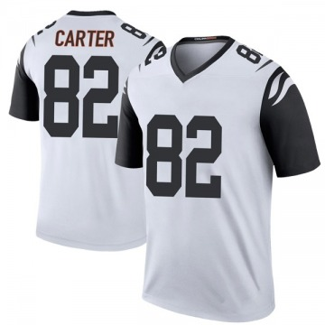 Youth Nike Cincinnati Bengals Cethan Carter White Color Rush Jersey - Legend
