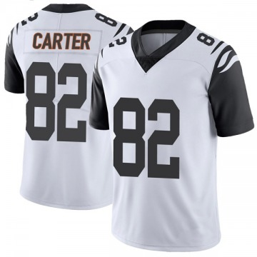Youth Nike Cincinnati Bengals Cethan Carter White Color Rush Vapor Untouchable Jersey - Limited