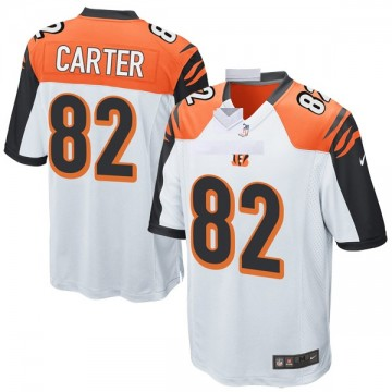 Youth Nike Cincinnati Bengals Cethan Carter White Jersey - Game