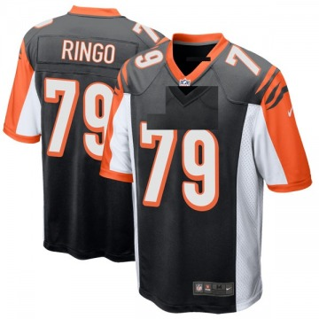 Youth Nike Cincinnati Bengals Christian Ringo Black Team Color Jersey - Game