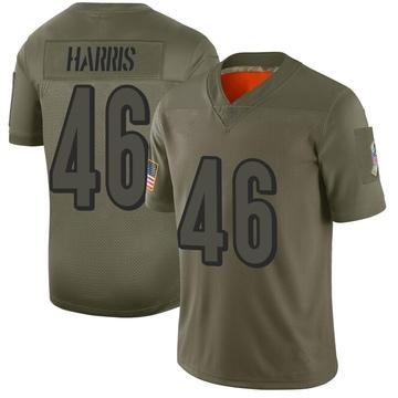 Youth Nike Cincinnati Bengals Clark Harris Camo 2019 Salute to Service Jersey - Limited