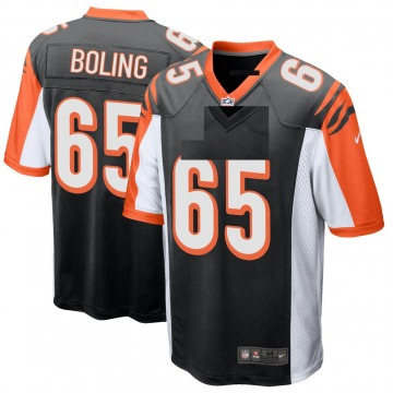 Youth Nike Cincinnati Bengals Clint Boling Black Team Color Jersey - Game