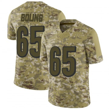 Youth Nike Cincinnati Bengals Clint Boling Camo 2018 Salute to Service Jersey - Limited