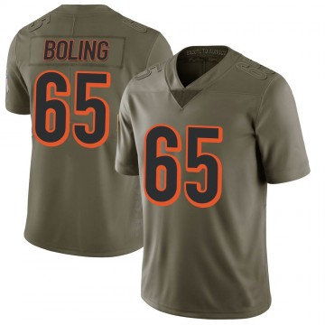 Youth Nike Cincinnati Bengals Clint Boling Green 2017 Salute to Service Jersey - Limited
