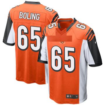 Youth Nike Cincinnati Bengals Clint Boling Orange Jersey - Game