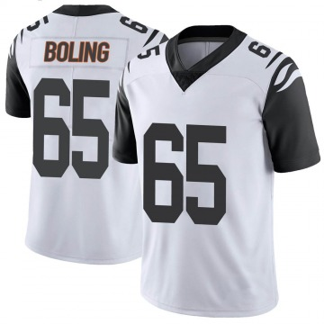 Youth Nike Cincinnati Bengals Clint Boling White Color Rush Vapor Untouchable Jersey - Limited