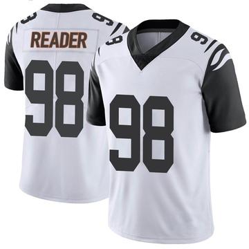 Youth Nike Cincinnati Bengals D.J. Reader White Color Rush Vapor Untouchable Jersey - Limited