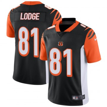 Youth Nike Cincinnati Bengals DaMarkus Lodge Black Team Color Vapor Untouchable Jersey - Limited
