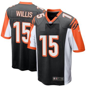 Youth Nike Cincinnati Bengals Damion Willis Black Team Color Jersey - Game
